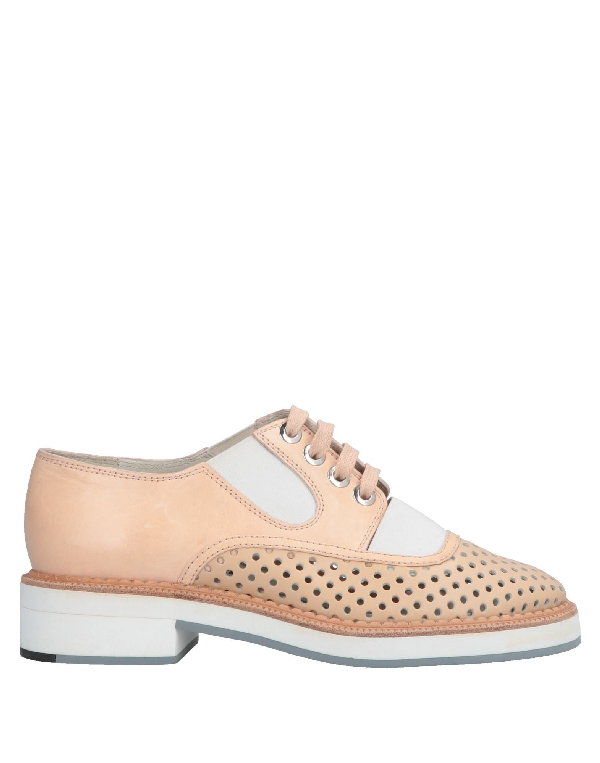 Jil Sander Laced Shoes In Sand