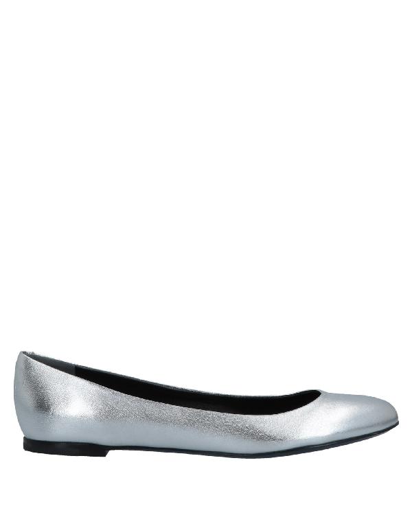 Jil Sander Ballet Flats In Silver