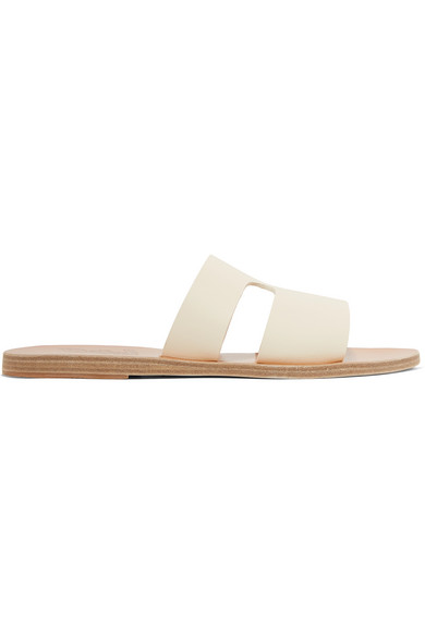 2a5757b7860 Apteros Cutout Leather Slides in White