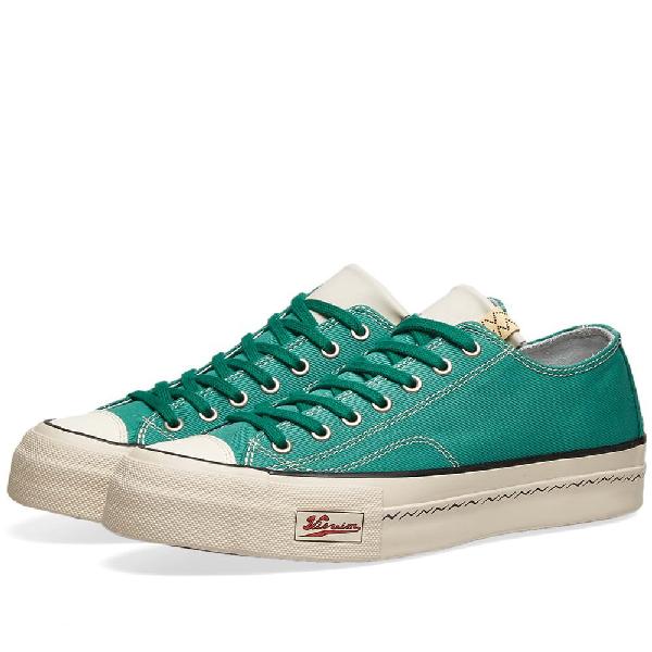 Visvim Skagway Leather-Trimmed Canvas Sneakers In Green