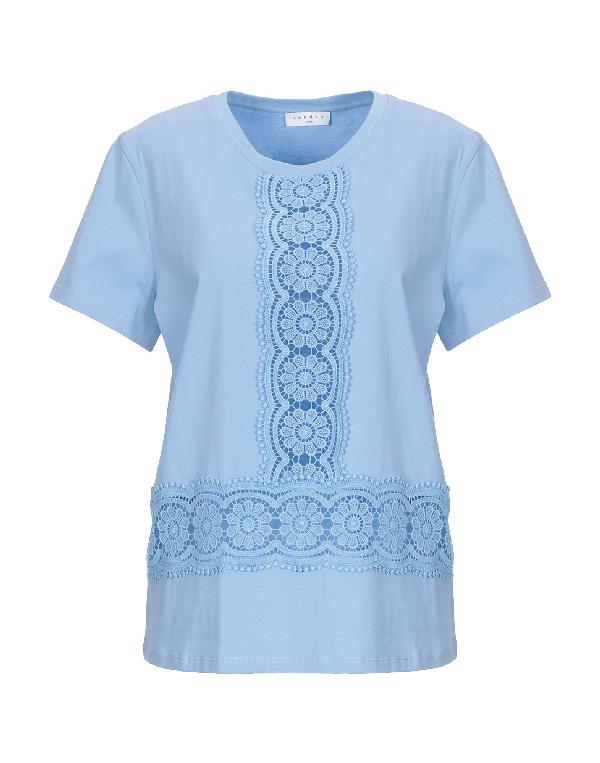 Sandro T-shirt In Sky Blue