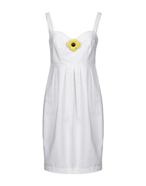 Boutique Moschino Short Dress In White