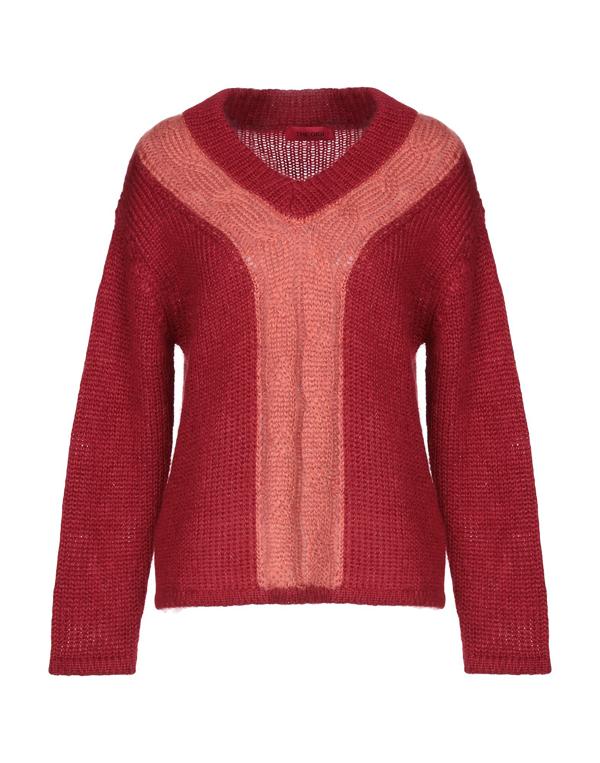 The Gigi Sweater In Garnet