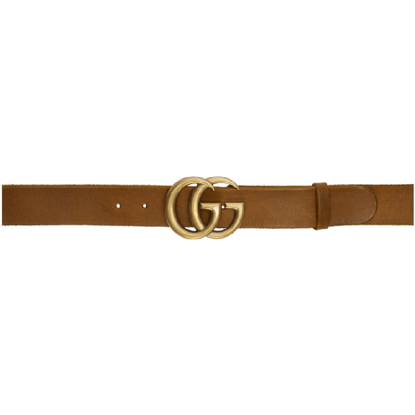 Gucci Embellished Leather Belt In 2535 Brown