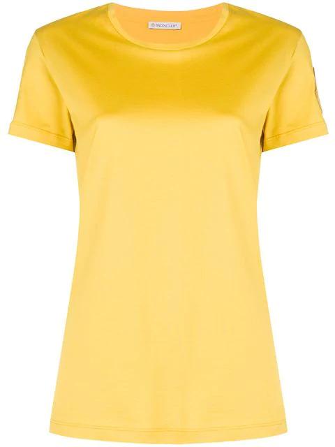 a6957d57 Moncler Soft Logo T-Shirt In Yellow | ModeSens