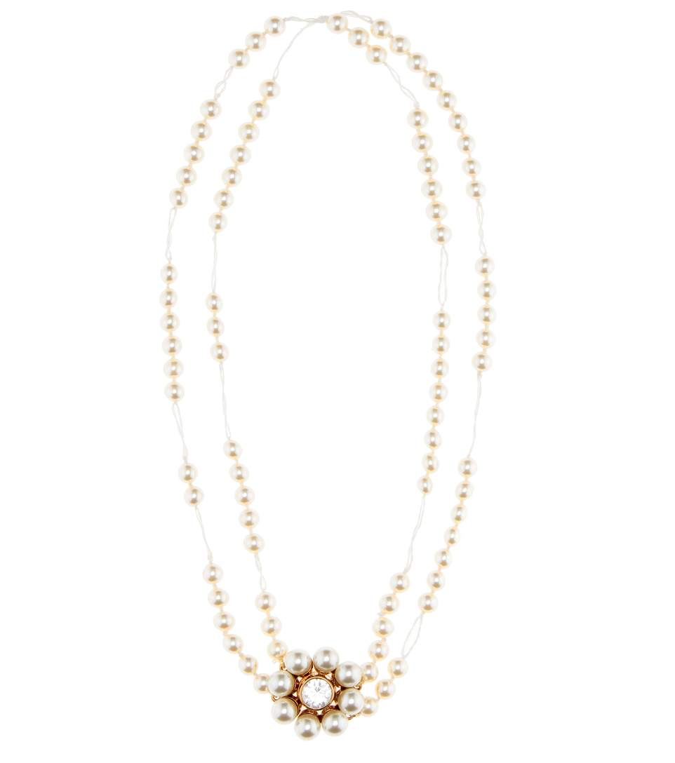 44385b679536b Stella Mccartney Faux Pearl, Crystal And Rose Gold-Tone Necklace ...