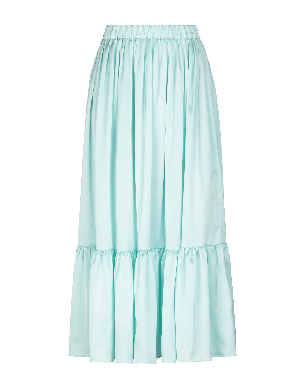Neul Midi Skirts In Light Green