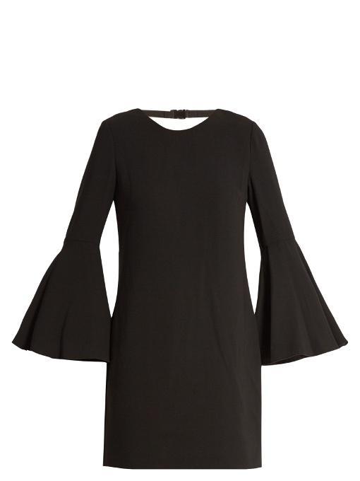 Elizabeth And James Aurora Fluted-Sleeve Dress In Black