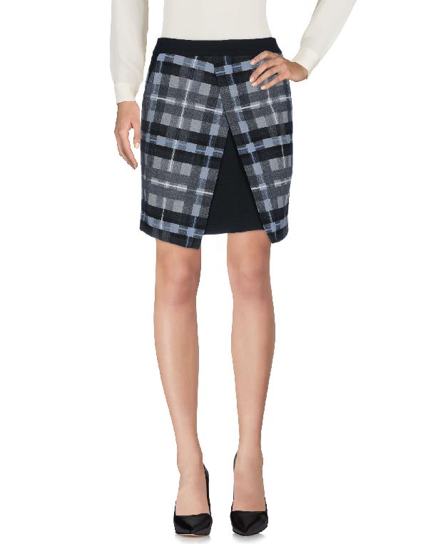 Karen Millen Knee Length Skirts In Grey