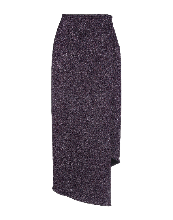Sid Neigum Midi Skirts In Purple