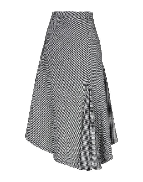 Sid Neigum Knee Length Skirt In Black
