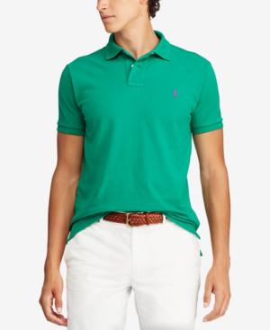 fe1c0f41 Polo Ralph Lauren Men's Custom Slim Fit Mesh Polo In Billiard   ModeSens