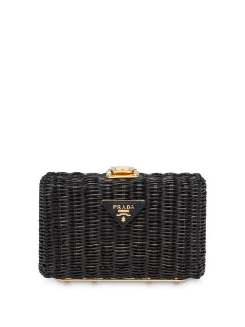 Prada Women's Basket Clutch In Black