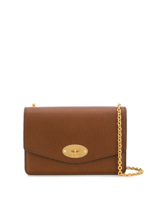 Mulberry Small Darley Leather Crossbody Bag In Brown