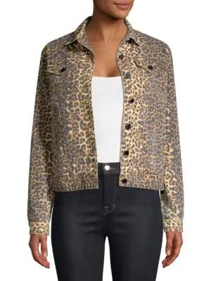 Atm Anthony Thomas Melillo Leopard-print Denim Jacket In Leopard Print