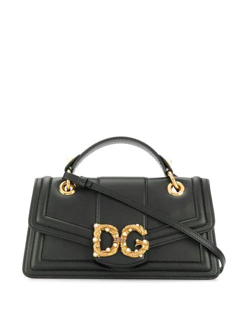 Dolce & Gabbana Logo Tote Bags In Black