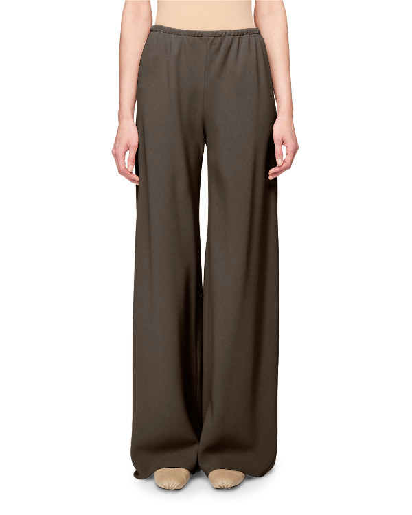 The Row Gala Wide-Leg Jersey Pants In Gray