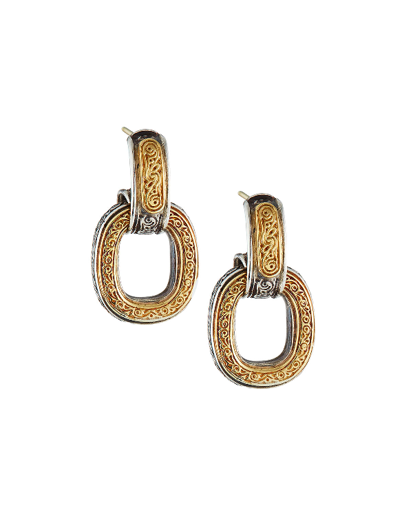Konstantino Silver & Gold Daphne Drop Earrings In Multi