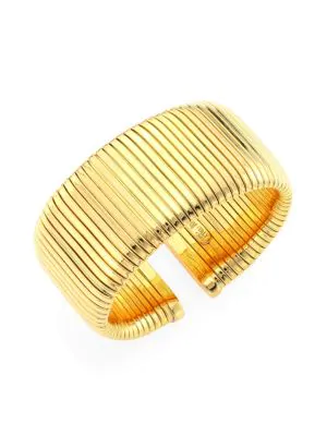 Alberto Milani Via Bagutta 18k Gold Tubogas Cuff Bracelet