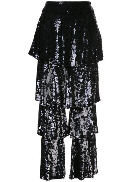 Osman Felix Sequin Trousers In Black