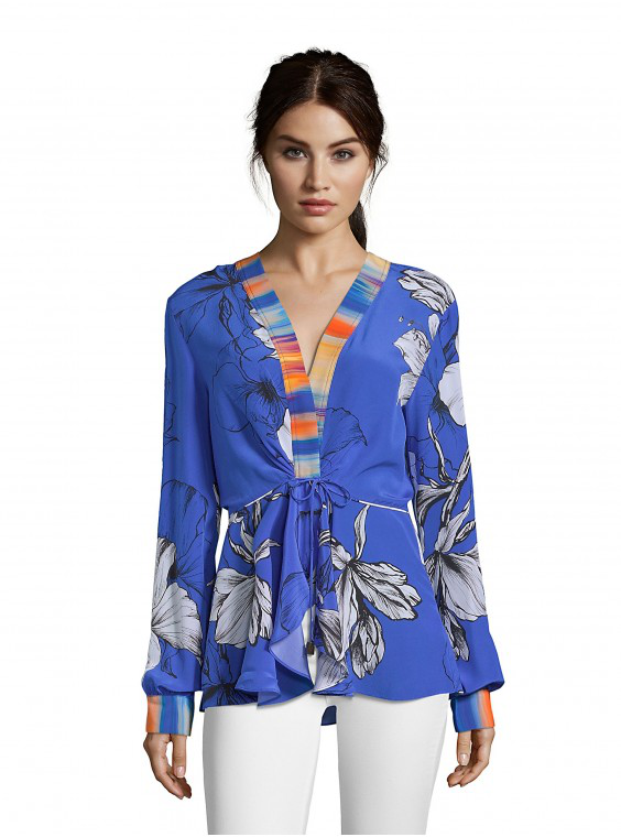 Robert Graham Lacey Hawaiian-Print Shirt In Blue