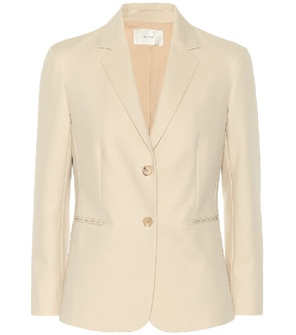 The Row Lobton Cotton-blend Blazer In Beige