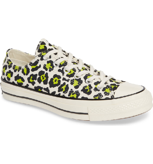 Converse Women's Chuck Taylor All Star 70 Low-Top Sneakers In Egret/ Black/ Bold Lime