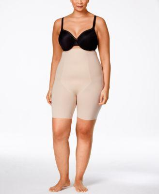 Spanx Thinstincts Plus Size Firm Tummy-Control High-Waist Shorts 10006P In Soft Nude
