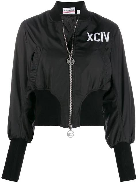 Gcds Xciv Bomber Jacket In Black