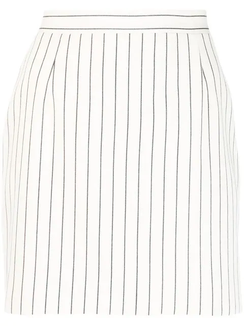 Striped Skirt In White by Alessandra Rich