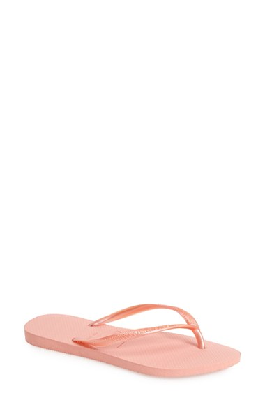 4824862a97eaba A classic all-rubber flip-flop features an updated slim strap and a more  feminine footbed. Style Name  Havaianas  slim  Flip Flop (Women).