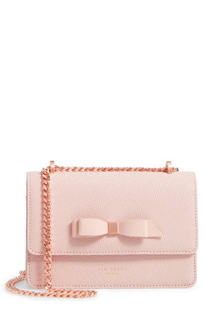 71e2d712e46 Ted Baker Jayllaa Bow Leather Crossbody Bag - Pink In Light Pink ...
