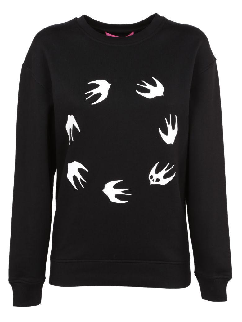 Mcq By Alexander Mcqueen Mcq Alexander Mcqueen Swallow Print Sweatshirt In Black