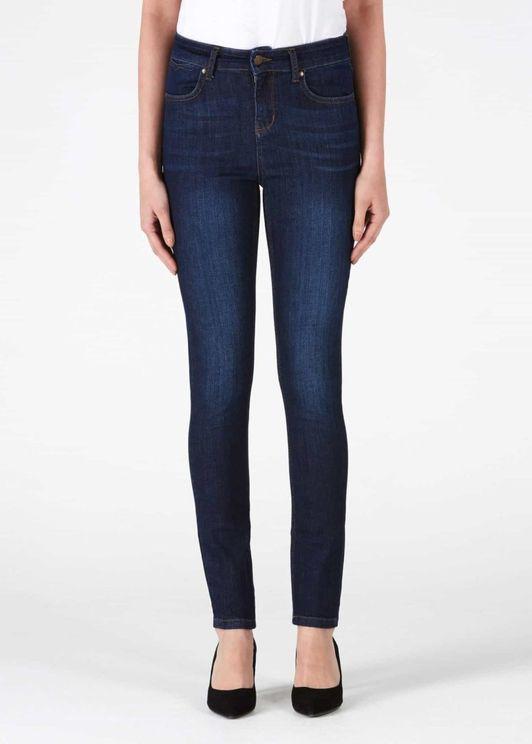 Donna Ida Ivy Skinny Jeans - 50s Monroe In Blue