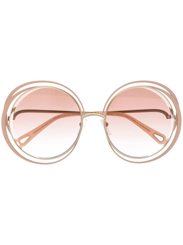 Chloé Carlina Sunglasses In Neutrals