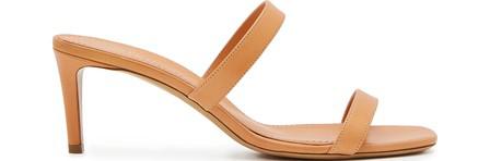 Mansur Gavriel Double Strap Sandals In Camel