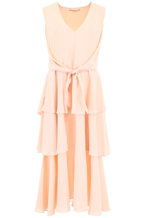7663b6b64b7f2 Stella Mccartney Ruffled Tier Dress In Pink | ModeSens