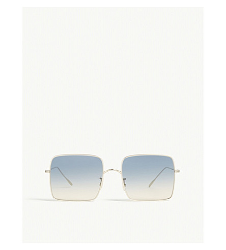 Oliver Peoples Rassine Gradient Square-frame Sunglasses In Gold