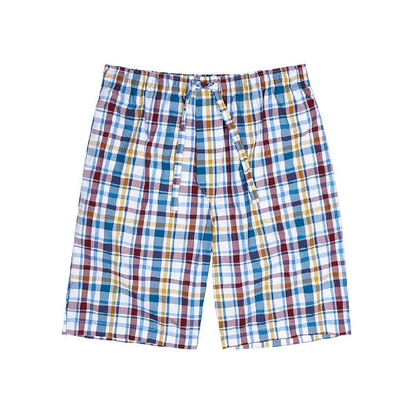 Derek Rose Barker Checked Cotton Pyjama Shorts In Multi