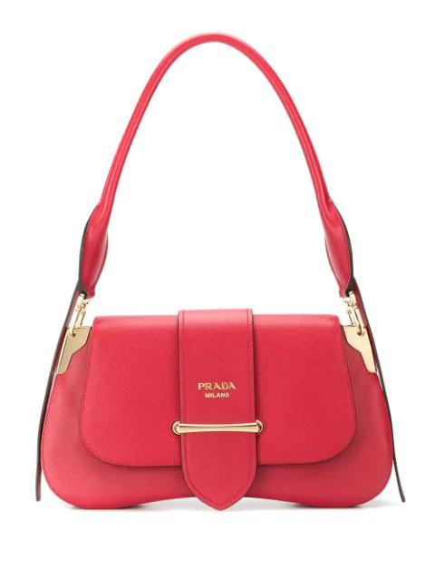 Prada Sidonie Medium Shoulder Bag In Red