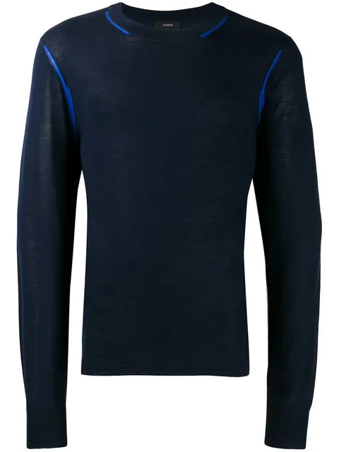 Joseph Contrast-trim Sweater - Blue