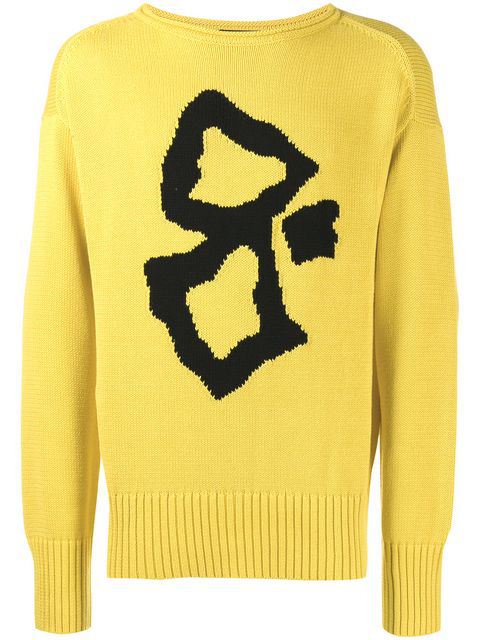 Joseph Embroidered Long-sleeve Sweater In Yellow