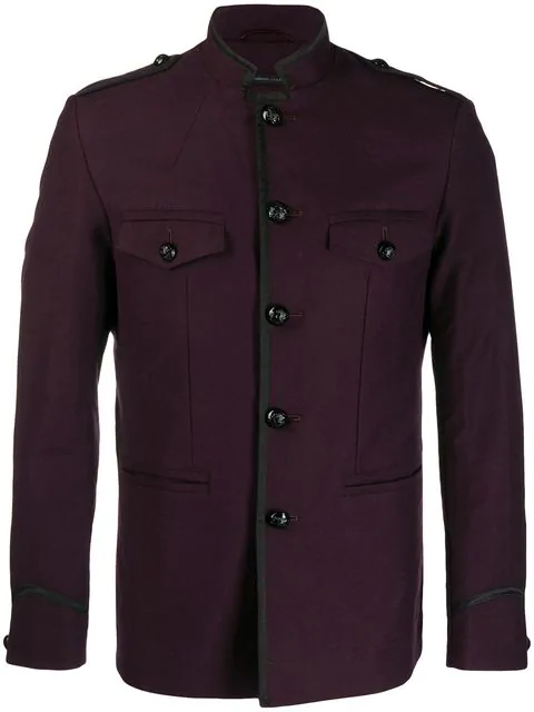 John Varvatos Classic Fitted Jacket In Purple