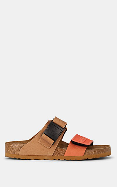 Rick Owens Orange & Tan Birkenstock Edition Rotterdam Combo Sandals In Beige