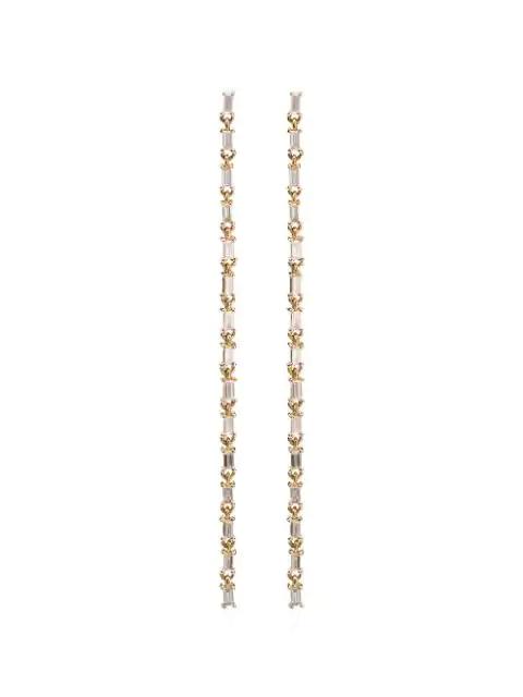 Lizzie Mandler Fine Jewelry Baguette Chain Chandelier Earrings In Yellow Gold