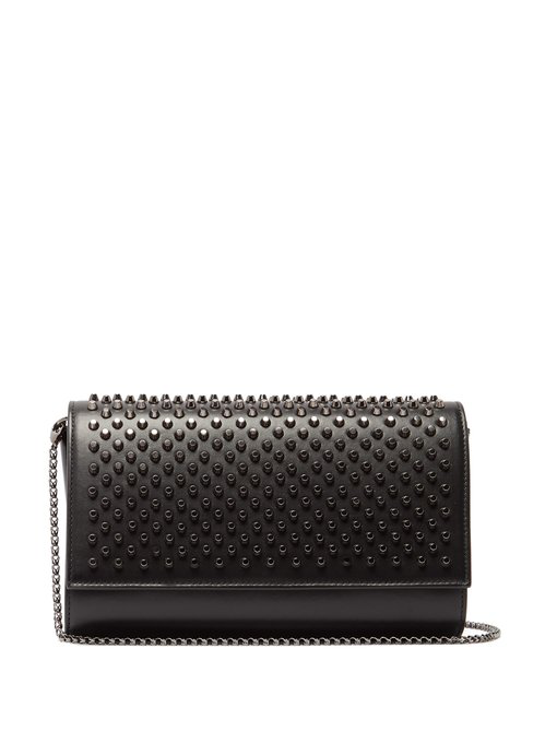 good quality affordable price performance sportswear Paloma Fold-Over Spike Clutch Bag, Black