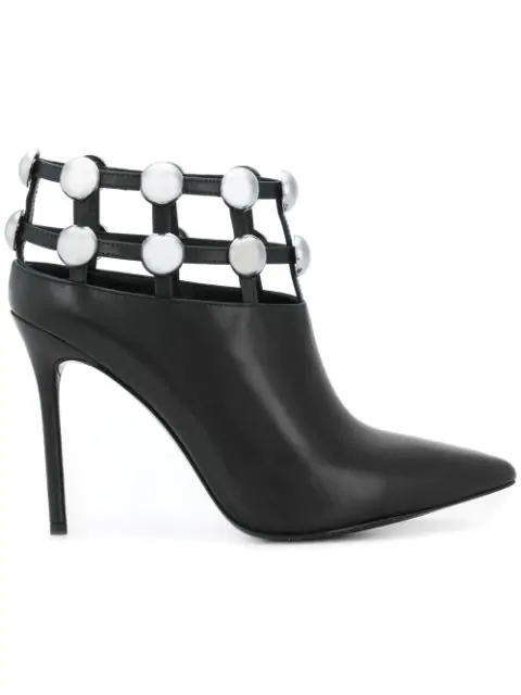 Alexander Wang Tina Studded Leather Ankle Boots In Black