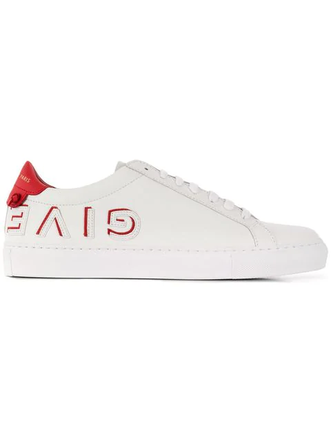 Givenchy Urban Street Reverse Logo Low-Top Sneakers In White