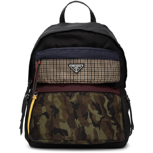 37c39a52fabe Prada Tessuto Camo Patch Nylon Backpack - None In F0Ots   ModeSens