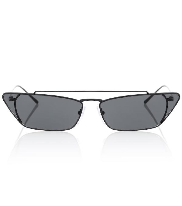 Prada Ultravox 67Mm Oversize Cat Eye Sunglasses - Black Solid